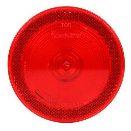 Truck-Lite 40232R 40 Series, Incan., Red, Round, 1 Bulb, S/T/T, Reflectorized, PL-3, 24V