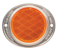 "Arrow A218-00-010 Amber 3"" Round Reflector - Aluminum Housing"