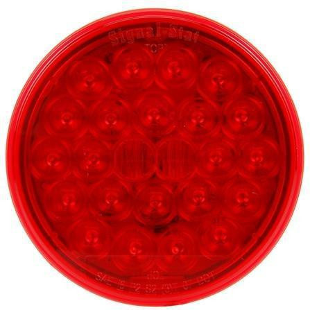 Truck-Lite 4050 LED, Red, Round, 24 Diode, S/T/T, PL-3, 12V