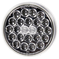 Truck-Lite 4051 LED, Clear/Red, Round, 24 Diode, S/T/T, PL-3, 12V