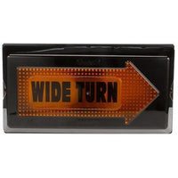 Truck-Lite 40805 40 Series Incan Yellow Rectangular 2 Bulb Wide Turn RH Side Aux Turn Signal Black Grommet 12V