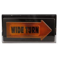 Truck-Lite 40812 40 Series LED Yellow Rectangular 84 Diode Wide Turn RH Side Aux Turn Signal Black Grommet 12V