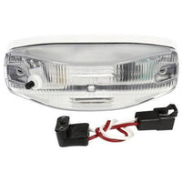 Truck-Lite 4094SW Incan., 1 Bulb, Rectangular Clear, Dome Light, White 2 Screw Bracket, 12V, Kit