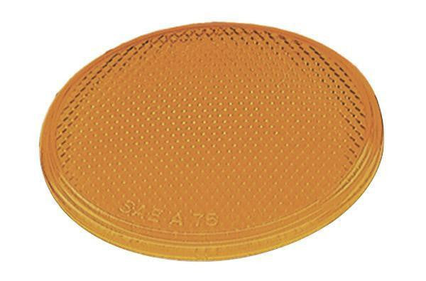 "Grote 41003 Round Stick-On Reflector- 2"", Yellow"