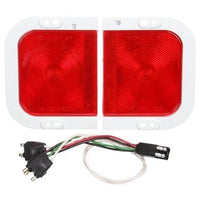 Truck-Lite 41006R 41 Series, Right Hand Side, Incan., Red, Rectangular, 1 Bulb, S/T/T,12V, Kit