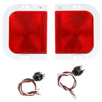 Truck-Lite 41007R 41 Series, Universal Kit, Incan., Red, Rectangular, 1 Bulb, S/T/T, 12V, Kit