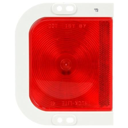 Truck-Lite 41203R 41 Series, Right Hand Side, Incan., Red, Rectangular, 1 Bulb, S/T/T, 12V
