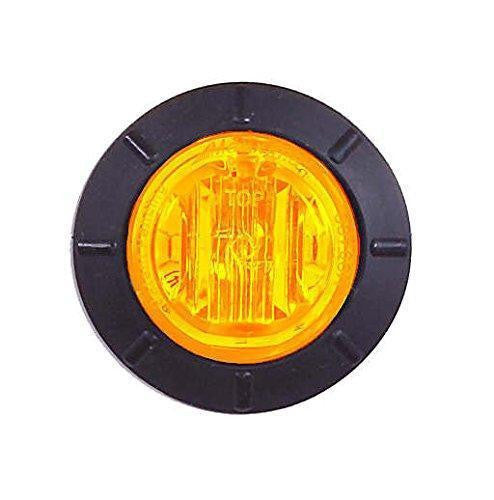 "Maxxima M09400YCL Amber LED Clear Lens 1 1/4"" Round P2PC Marker Light"