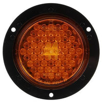 Truck-Lite 44027Y Super 44 LED Yellow Round 42 Diode Rear Turn Signal Black Flange 12V Kit
