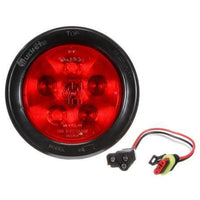 Truck-Lite 44030R Super 44, LED, Red, Round, 6 Diode, S/T/T,12V, Kit