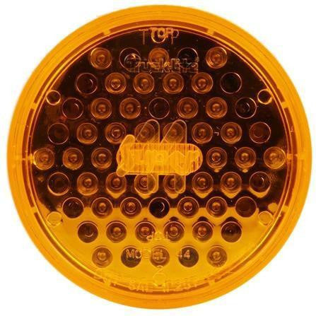 Truck-Lite 44102Y Super 44 LED Strobe 42 Diode Round Yellow Black Grommet Metalized 12V Kit