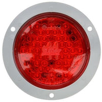 Truck-Lite 44103R Super 44 LED Strobe 42 Diode Round Red Red Flange 12V Kit