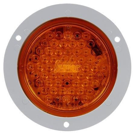 Truck-Lite 44103Y Super 44 LED Strobe 42 Diode Round Yellow Amber Flange 12V Kit