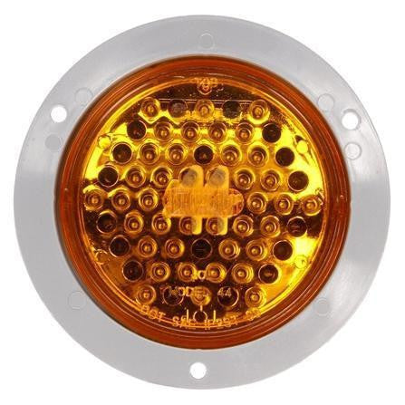 Truck-Lite 44104Y Super 44 LED Strobe 42 Diode Round Yellow Gray Flange Metalized 12V Kit