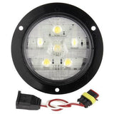 Truck-Lite 44182C Super 44, Diamond Shell, LED, 6 Diode, Round, Back-Up Light, Black Flange, 12V, Kit, Back-Up Light, Truck-Lite