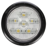 Truck-Lite 44184C Super 44, Diamond Shell, LED, 6 Diode, Round, Back-Up Light, Black Grommet, 12V, Kit, Back-Up Light, Truck-Lite