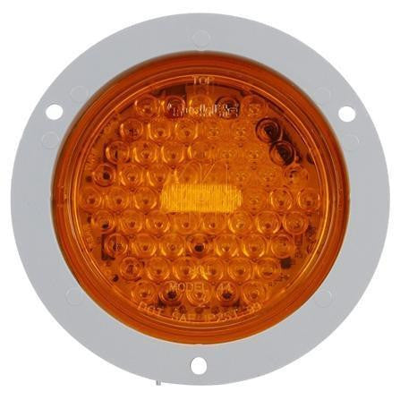 Truck-Lite 44213Y Yellow Super 44 LED Strobe 42 Diode Round Gray Flange 12V