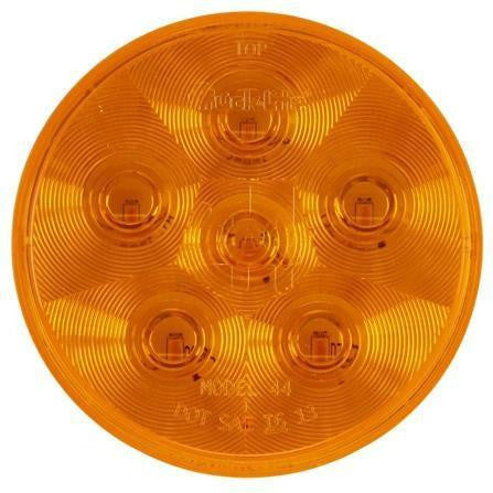 Truck-Lite 44281Y Super 44 LED Yellow Round 6 Diode Rear Turn Signal 12V