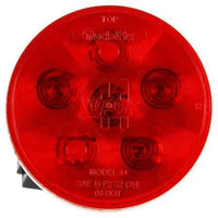 Truck-Lite 44355R Super 44, LED, Red, Round, 6 Diode, S/T/T, Hardwired, Male Pin, 12V