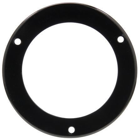 Truck-Lite 44709 Flange Mount, 4 in Diameter Lights, Round, Black, 3 Screw Bracket Mount