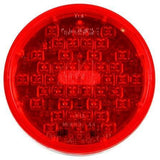 Truck-Lite 44882R Super 44, LED, Red, Round, 42 Diode, S/T/T, Diamond Shell, Fit 'N Forget S.S., 12V
