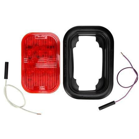 Truck-Lite 45041R 45 Series European Approved Red Polycarbonate LED Fog Light Kit