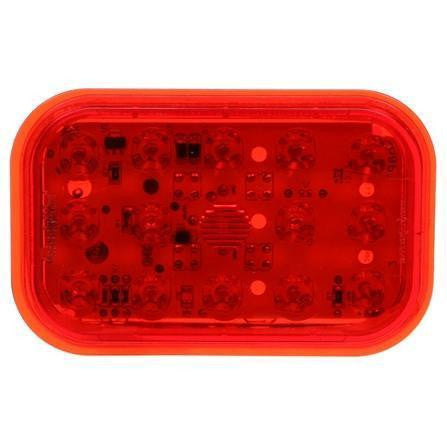 Truck-Lite 45042R 45 Series, European Approved, LED, Red, Rectangular, 19 Diode, S/T/T, 12-24V, Kit