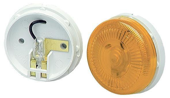 "Grote 45413 Yellow 2 1/2"" Surface Mount Single Bulb Clearance/Marker"