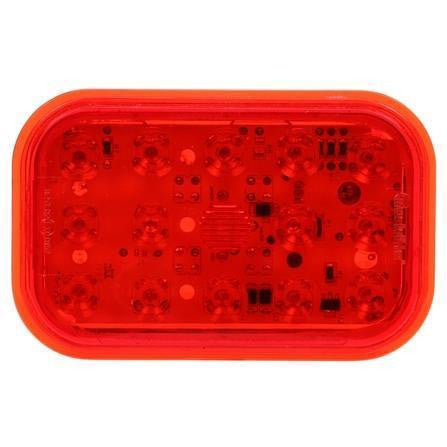 Truck-Lite 45932R 45 Series, European Approved, LED, Red, Rectangular, 24 Diode, S/T/T, 12-24V