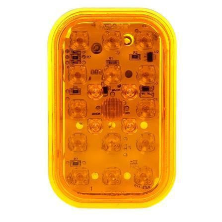 Truck-Lite 45934Y 45 Series LED Yellow Rectangular 19 Diode European Approved Rear Turn Signal 12-24V