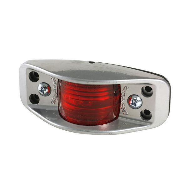 Grote 46282 Red Die-Cast Aluminum Clearance Marker Light Flat Back