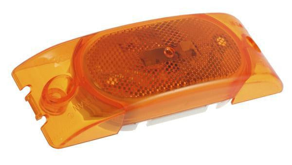 Grote 46303 Yellow Reflectorized Two Bulb Turtleback Clearance/Marker