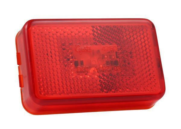 Grote 47502 Red Supernova LED Clearance/Marker w/Built-in Reflector