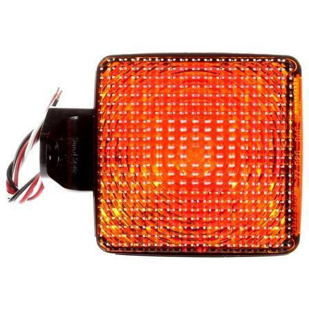Truck-Lite 4754 Dual Face Horizontal Mount Incan Red/Yellow Square 1 Bulb 2 Wire Pedestal Light