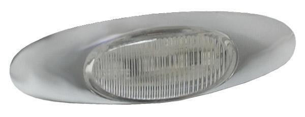 Grote 47983 Yellow/Clear MicroNova® LED Clearance Marker Light w/Chrome Bezel