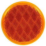 "Truck-Lite 47ADB 3-1/8"" Round, Yellow, Reflector, Adhesive, Display"