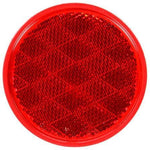 "Truck-Lite 47 Red 3-1/8"" Round Reflector Adhesive Mount"