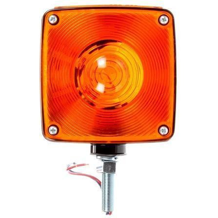 Truck-Lite 4810 Dual Face Horizontal Mount Incan Red/Yellow Square 2 Bulb 2 Wire Pedestal Light