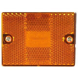 Truck-Lite 5052AD LED, Amber Rectangular, 6 Diode, M/C Light, P2, Silver 1 Stud, 12V, Marker Clearance Light, Truck-Lite