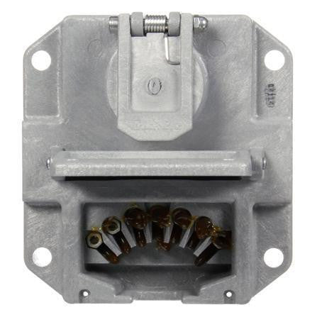 Truck-Lite 50805 50 Series, 7 Solid Pin, Grey Polycarbonate, Nose Box Without Circuit Breakers