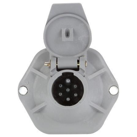 Truck-Lite 50860 50 Series, 7 Solid Pin, Grey Plastic, Surface Mount, Receptacle