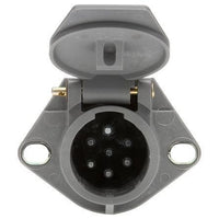 Truck-Lite 50868 50 Series, 7 Solid Pin, Grey Plastic, Flush Mount, Receptacle