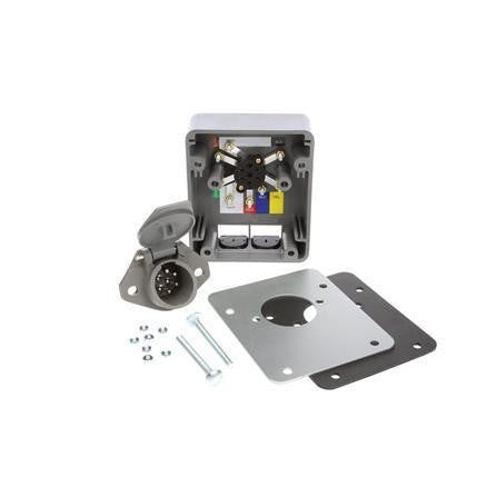 Truck-Lite 50878 50 Series, Smart Box, 7 Solid Pin, Grey Plastic, Nose Box