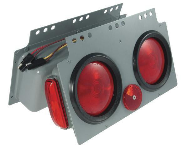 "Grote 51032 4"" STT Light Power Modules, LH, w/ Side Marker Light"