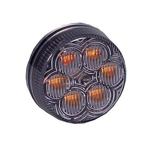 Maxxima M34260YCL Amber Clear Lens 2 Round Vantage Series Marker Light