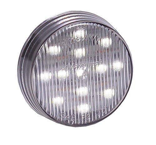 "Maxxima M11300WCL White Led Clear Lens 2.5"" Round Courtesy Light"