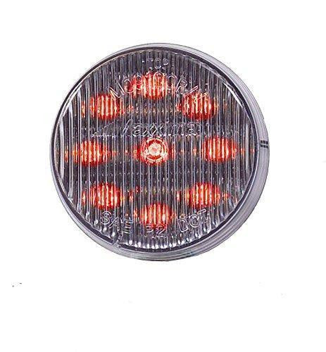 "Maxxima M09100RCL Red LED Clear Lens 2"" Round Clearance Marker Lights"