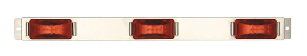 Maxxima M20323R Red 24 LED Clearance Marker Stainless Steel ID Bar