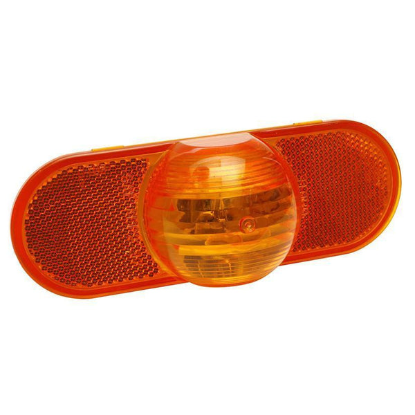 Grote 52533 Torsion Mount® III Oval Side Turn Marker Light, Male Pin, Yellow