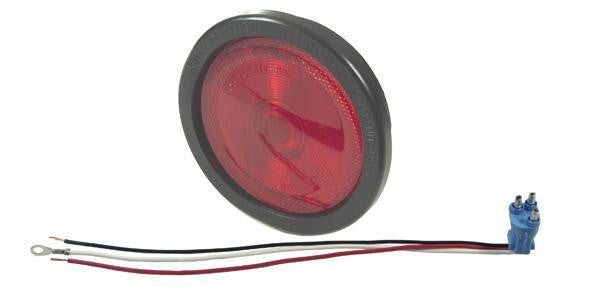 Grote 52682 Torsion Mount® II Stop Tail Turn Light, Built-in Reflector, Female Pin, Red (52672 + 91740 + 67000)